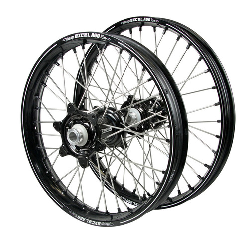 Husqvarna Talon Carbon Fibre / Excel A60 SNR MX Black Rims / Black Hubs / Black Nipples Wheel Set
