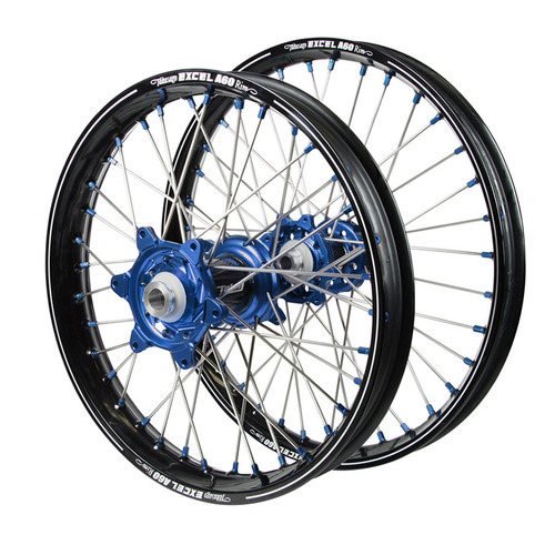 Husqvarna Talon Carbon Fibre / Excel A60 SNR MX Black Rims / Blue Hubs / Blue Nipples Wheel Set
