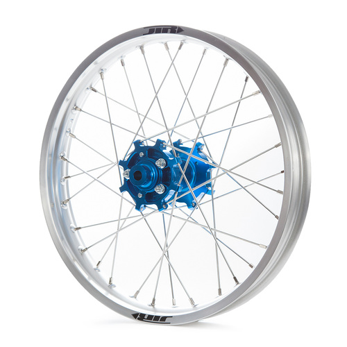 JTR Speedway Silver Rims / Blue Hubs Rear Wheel